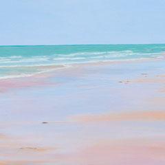 Teresa's beach. 40 x 80 cm.