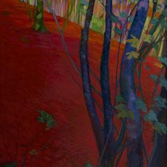 El árbol azul. Acrílico sobre lienzo. 130 x 60 cm.