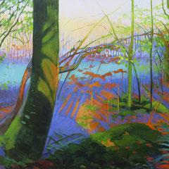 El color en mi memoria. 60x92cm. Acrílico sobre lienzo.