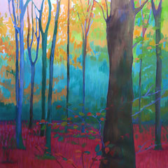 Forest. Acrylic on paper. 112 x 76 cm.
