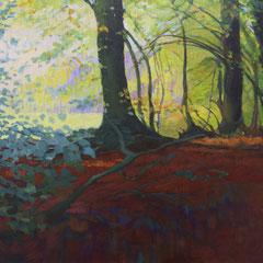 Universos paralelos. Acrílico sobre lienzo. 100 x 50 cm.
