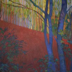 Un bosque para David. Acrílico sobre lienzo. 120 x 100cm.