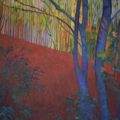 A forest for David. Acrylic on canvas. 120 x 100cm