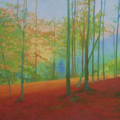 Autumn light. Acrylic on paper. 76 x 112 xm.