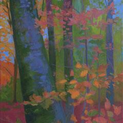 Autumn in Vejle, sketch. 100 x 50 cm. Acrylic on canvas