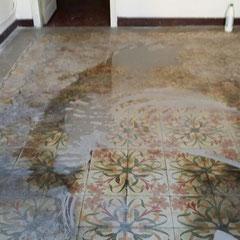 pulido y abrillantado mosaico hidráulico (durante)