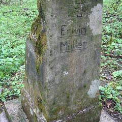 Grabstein von Erwin Müller