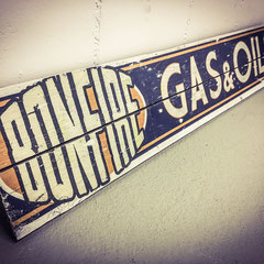 Bonfire Gas & Oil, Vintage Sign