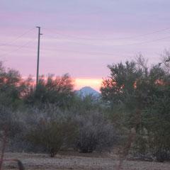 ♡ 初日の出 アリゾナの富士山