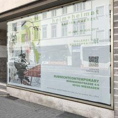 Banner: heim+heimat – SABINE KÜRZEL EXHIBIT 2018, RUBRECHTCONTEMPORARY galerie, Wiesbaden