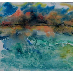 Lofotwand, Aquarell, 37x48 cm