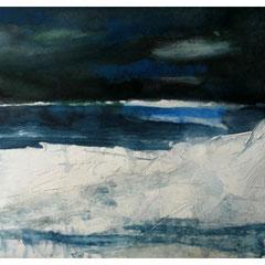Polarnacht, Mischtechnik, 40x60 cm