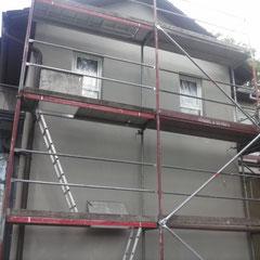 Vorarbeiten, Spachtelarbeiten, Fassadensanierung in Reinbek, 2015