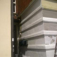 Vorarbeiten, Spachtelarbeiten, Fassadensanierung in Lauenburg, 2014
