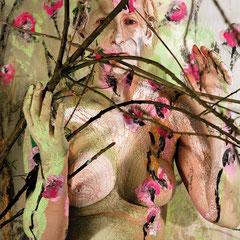 -1-N&R-Peinture sur corps-Photographie sur toile ou Plexiglas- 50x70-Ed limitée  10 exemplaires