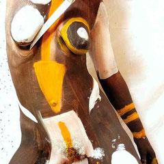 -1- T-Peinture sur corps-Photographie sur toile ou Plexiglas- 50x70-Ed limitée  10 exemplaires