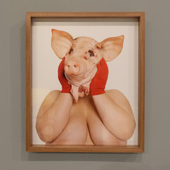 Pighead, Photographie (metallic, walnut wood frame), 48x57cm, Documentation photo: Veronika Merklein, Photo: Rebecca Memoli