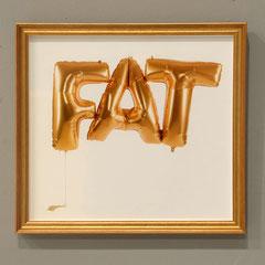 Fatballoon, Fotografie (metallic, Goldrahmung), 32x30cm, Dokumentationsfoto: Veronika Merklein, Foto: Rebecca Memoli