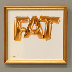 Fat balloon, Photografie (metallic, golden frame), 32x30cm, Documentation photo: Veronika Merklein, Photo: Rebecca Memoli