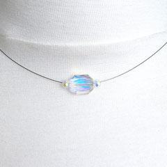 Collier mit transparent-irisierenden Perlen (Ansicht 1)