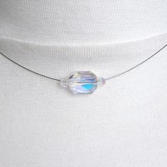 Collier mit transparent-irisierenden Perlen (Ansicht 2)