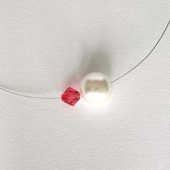 Collier PUR rot/weiß
