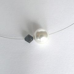 Collier PUR schwarz/weiß