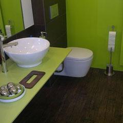 WC Umbau mit Farbgestaltung, Coiffeure Hair-Sun, Basel