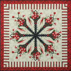 Poinsettia Bouquet quiltworx pattern