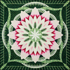 Dinner Plate Dahlia wall quilt quiltworx pattern