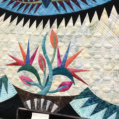 Panier Appliqué Paradise in Bloom quiltworx pattern