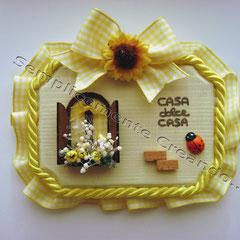 "n. 17 Targhetta  ""Casa dolce Casa""  in legno (cm 10 x 7 x 1)"