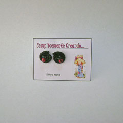 n. 05 orecchini girelle con coccinelline