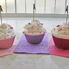 n. 03 Portamemo cupcake rosa/lilla/fuxia