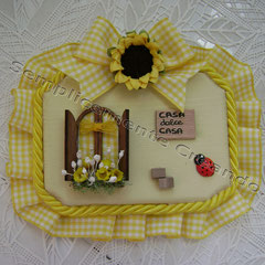 "n. 16 Targhetta ""Casa dolce Casa""  in legno (cm 10 x 7 x 1)"