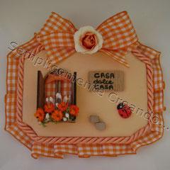 "n. 15 Targhetta ""Casa dolce Casa"" in legno (cm 10 x 7 x 1)"