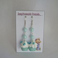 n. 15 orecchini cupcake con perle e corallini