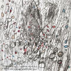 Kristin Finsterbusch, In meinem Kopf des Nachts, Seite 8 von 21 Seiten, Tiefdruck, vernis mou, Aquarell, 2007, 15 x 15 cm, Auflage 10