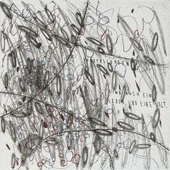 Kristin Finsterbusch, In meinem Kopf des Nachts, Seite 5 von 21 Seiten, Tiefdruck, vernis mou, Aquarell, 2007, 15 x 15 cm, Auflage 10