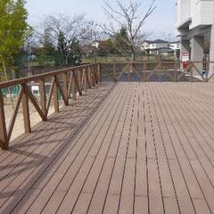 木製樹脂ベランダ工事