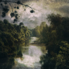 "<span style=""font-family: Ubuntu Condensed; letter-spacing:0.3em;"">SILVER MORNING BY THE RIVER</span>"
