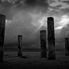 am Strand bei Nebel/Amrum