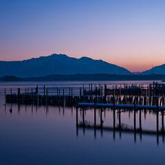 Sonnenuntergang Chiemsee, Langzeitbelichtung