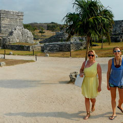 Tulum Early in the Morning, beating up the crowds!