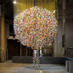 une oeuvre collective inspirée de la création du Palais de Tokyo à Paris