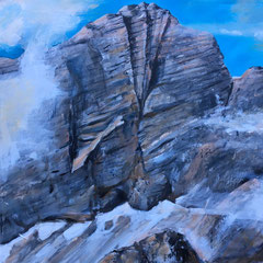 Hoher Dachstein - Südwand Ramsau Steiermark 2020 (Privatbesitz).  Acryl auf Leinwand. 90 x 60 cm