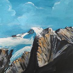 Rocky Mountains Kanada. 2017. Acryl auf Leinwand.  80 x 60 cm