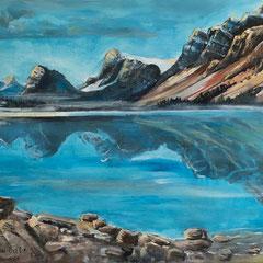 Bow Lake - 2017 Banff Nationalpark  Kanada  2017. Acryl auf Leinwand. 120 x 80 cm