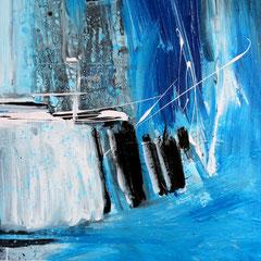 Blaue Struktur (Privatbesitz)      Acryl auf Leinwand   60 x 80 cm