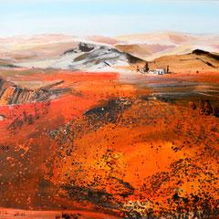 Landschaft in Asien (Privatbesitz)   Acryl auf Leinwand  60 x 80 cm
